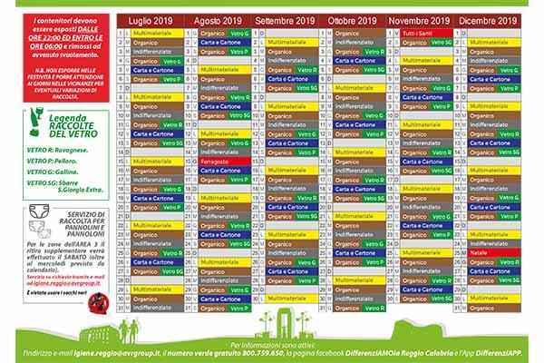 Pagina Calendario Agosto 2019.Nuovi Calendari Raccolta Differenziata 2019 I Dettagli Per